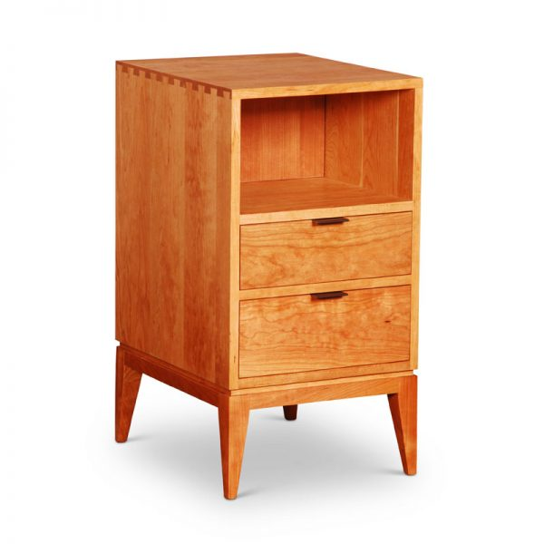 Dovetail-Nightstand-Cherry-2 Drawers