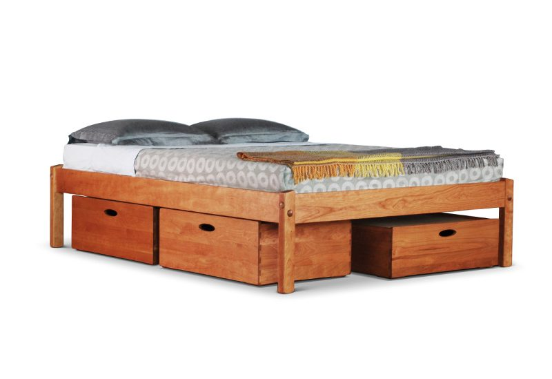 Turtle Bay Platform Bed with storage drawers and no headboard