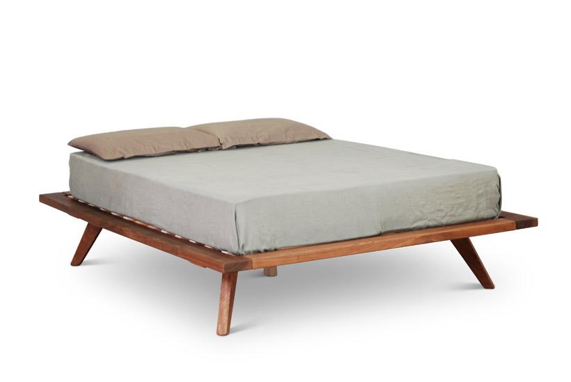 Cosmos Bed in Walnut
