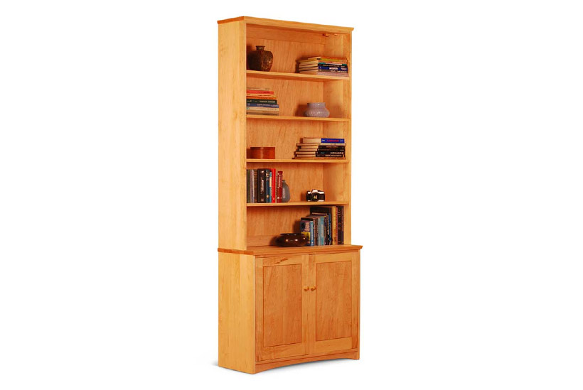 Maple bookcase with lower doors