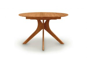 Audrey Round Table Head on Cherry