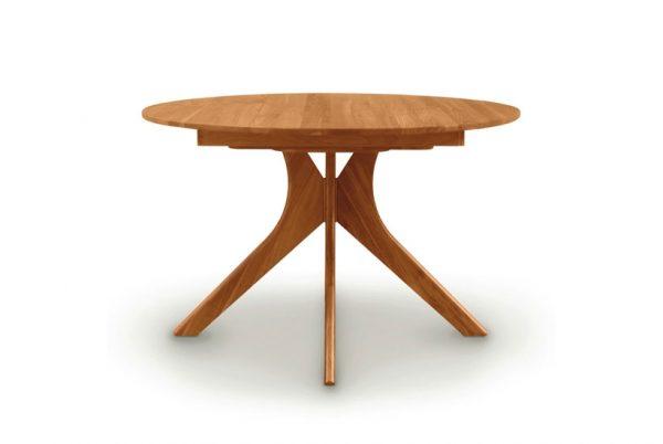 Audrey Round Table Head on Cherry