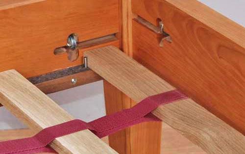 pocketed straps holding bed slats