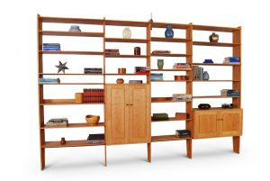 Contemporary Wall Unit crafted in Solid Cherry