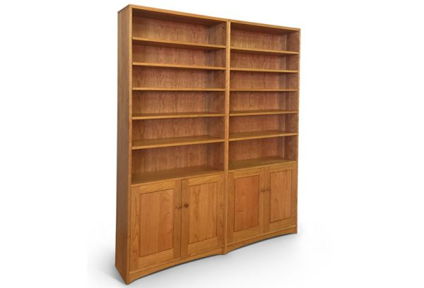 Double-Bookcase-With-Doors