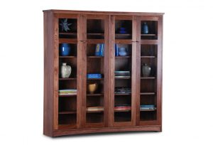 Double Bookcase With Doors