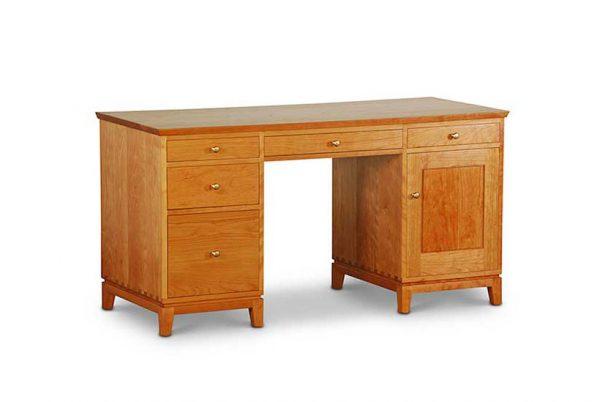 Double Pedestal Desk in Cherry