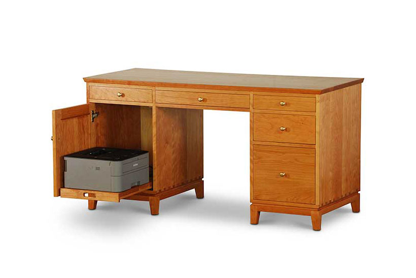Double Pedestal Desk with Printer Pull Out