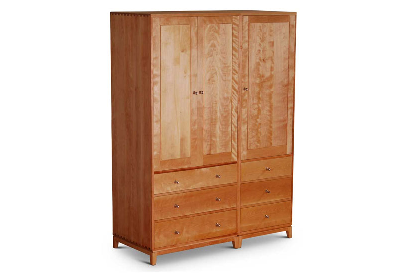 Double Dovetail Armoire Birch