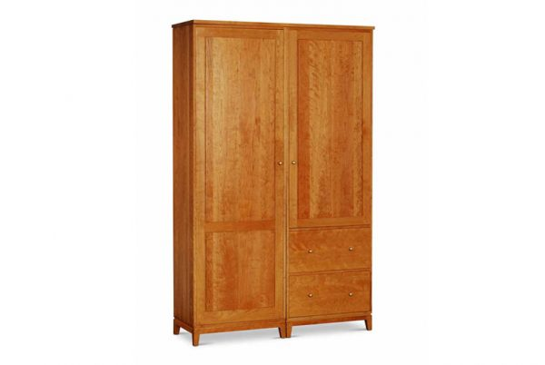 Harrison Double Armoire with 2 deep drawers