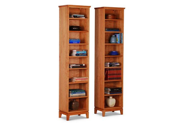 Narrow Bookcase in Cherry