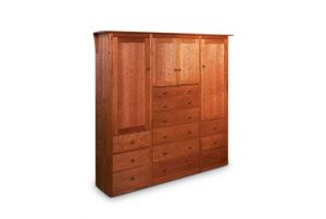 Prairie Triple Armoire in Cherry