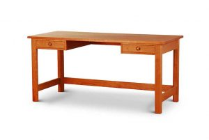 Prairie Desk open center in Cherry