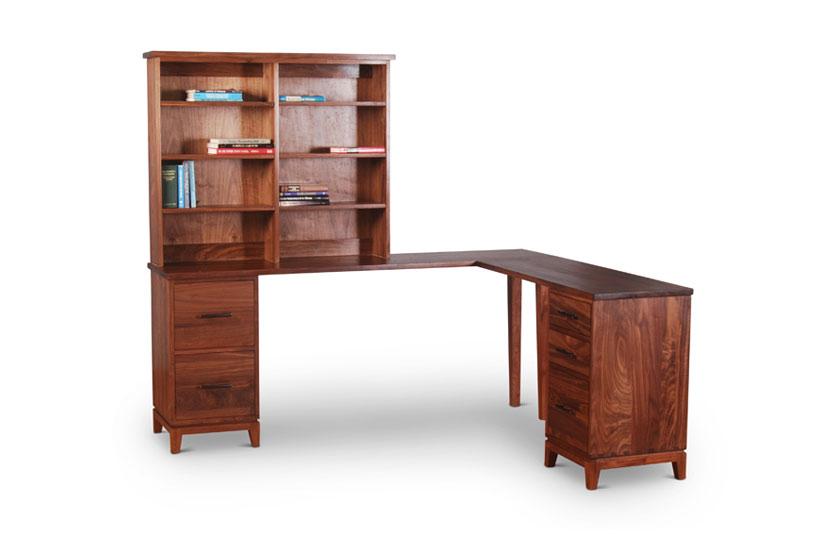 Corner Desk in Walnut for Home Office