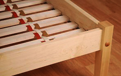 alternative method of securing bed slats