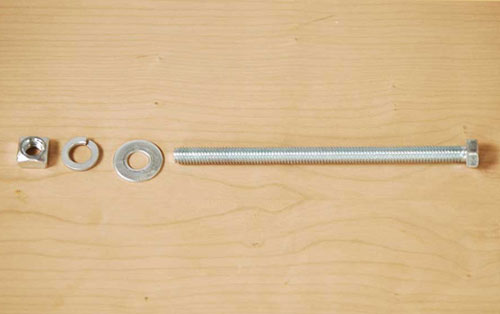 Bed bolt and fasteners