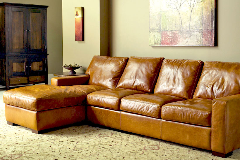 American Leather Danford Comfort Sleeper Sectional Sofas