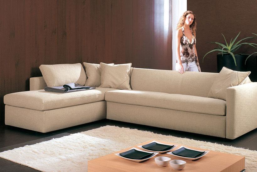 Garda Sofa Bed long angle with 160-cm long armrest