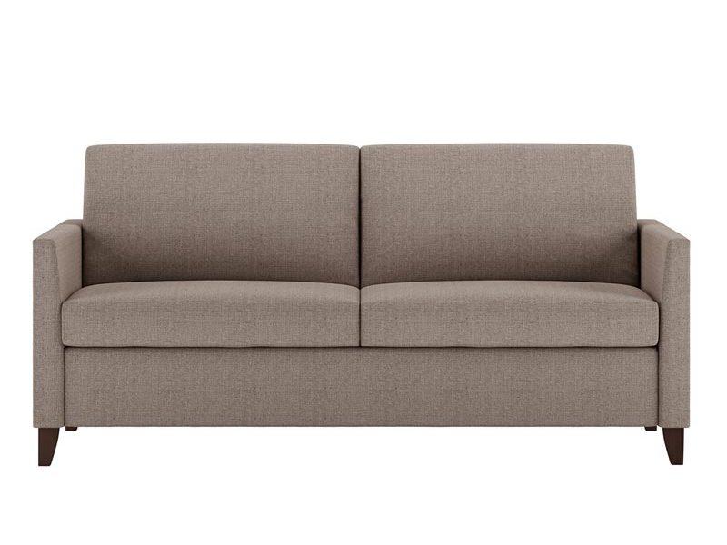 Harris Queen Plus Comfort Sleeper Crypton Zander Stone Fabric with Acorn Finish Legs