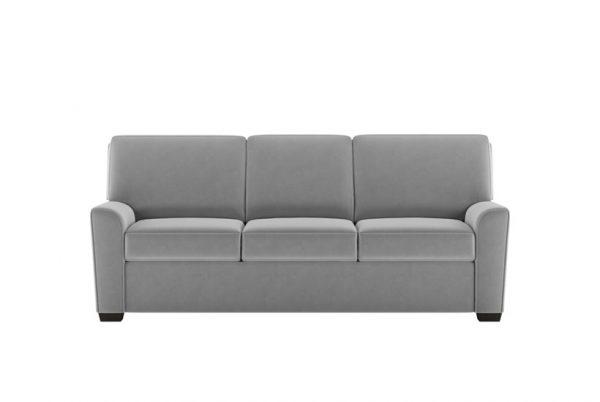 Klein Comfort Sleeper Suede Life Flint Fabric with Espresso Finish Legs