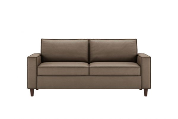 Mitchell Queen Plus Comfort Sleeper Dolce Chocolate Leather with Walnut Finish Legs
