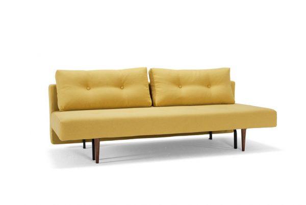 Recast 554 soft mustard flower sofa bed
