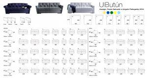 Specification Sheet for ULBUTÙN Sofa Bed