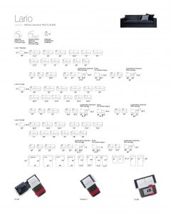 Specification sheet for Lario Sofa Bed