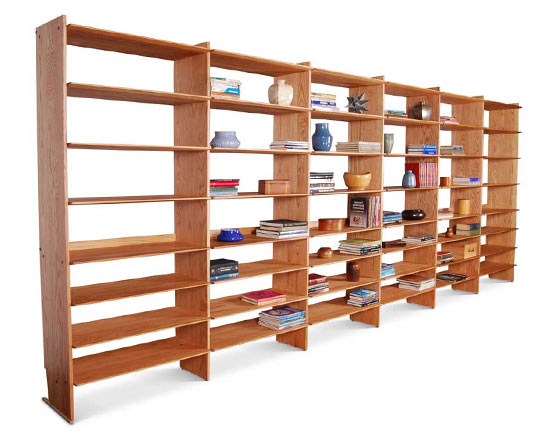 Bookcase Wall by Ania Stempi