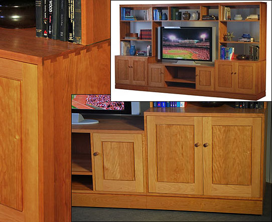 Wall Unit For TV Crafted in Cherry in Our Brooklyn Workshop