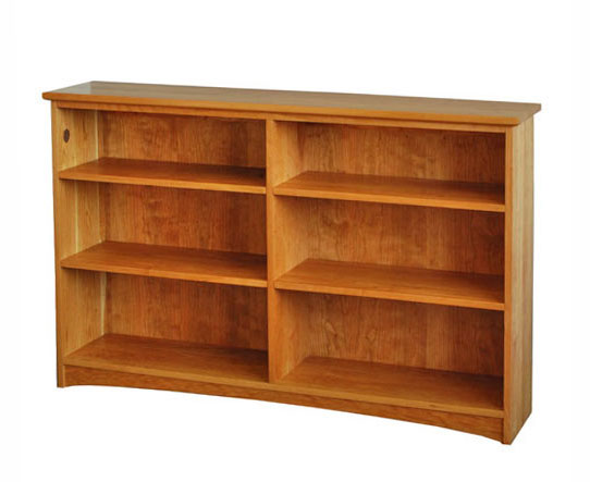 Horizontal double bookshelf