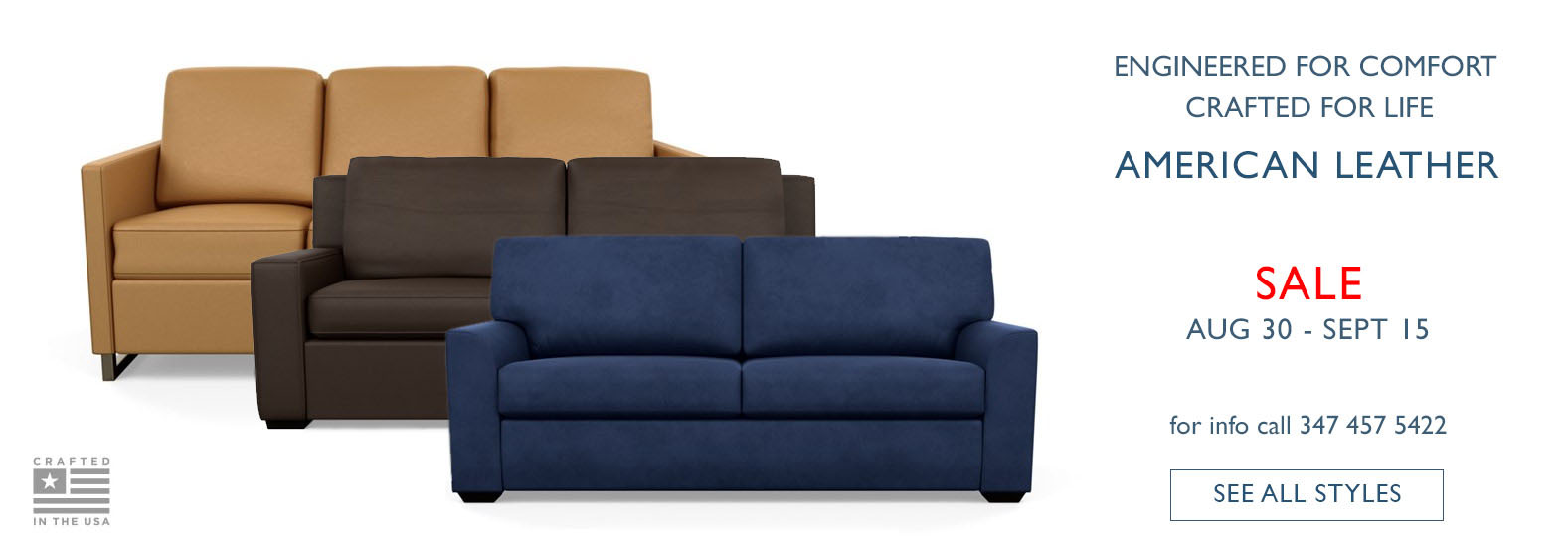 Save on Quality Sofa beds from American Leather till Sep 15 2019