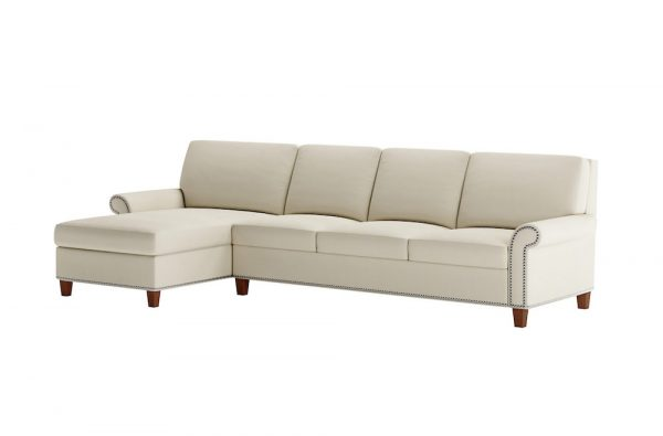 Gibbs Sectional Antique Brass Nailhead Sofa Bed