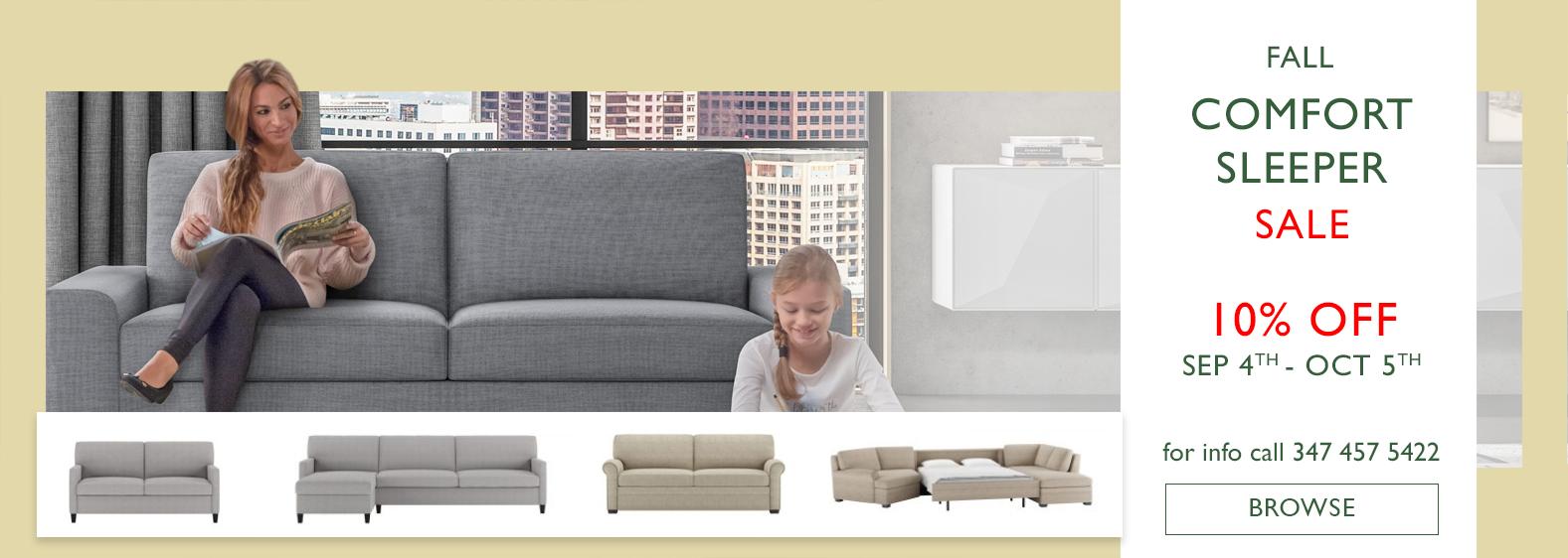 Fall Comfort Sleeper Sale Sep - Oct 2020