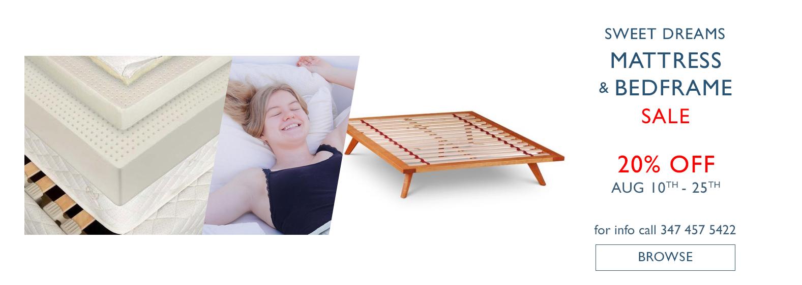 Mattress Bed frame sale Aug 2020