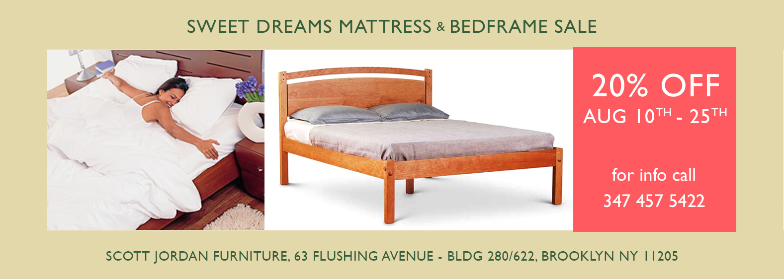 Mattress Bed frame sale Aug 2020